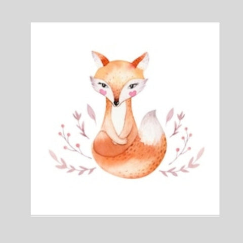 Beautiful Fox Printed Canvas