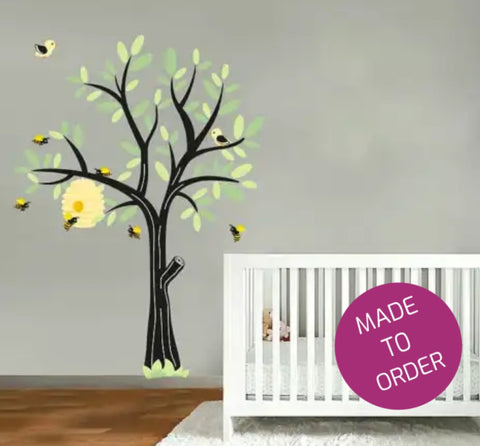 Bee Tree Wall Sticker