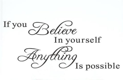 Believe In Yourself Wall Sticker