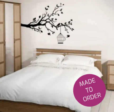 Birdcage Branch Wall Sticker