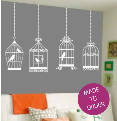 Birdcage Collection Wall Sticker