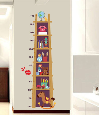 Bookshelf Growth Chart Wall Sticker