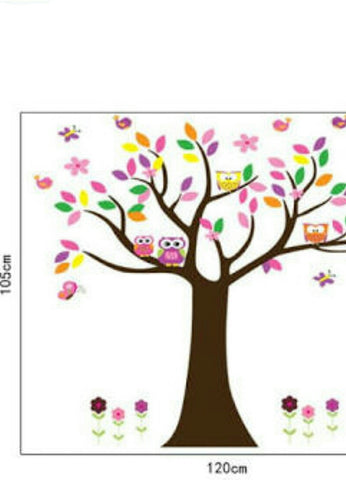 ... Bright Owl Tree Wall Sticker Size Part 75