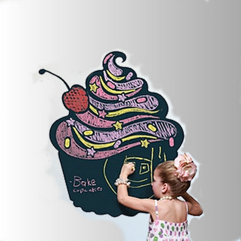 Blackboard Cupcake Wall Sticker