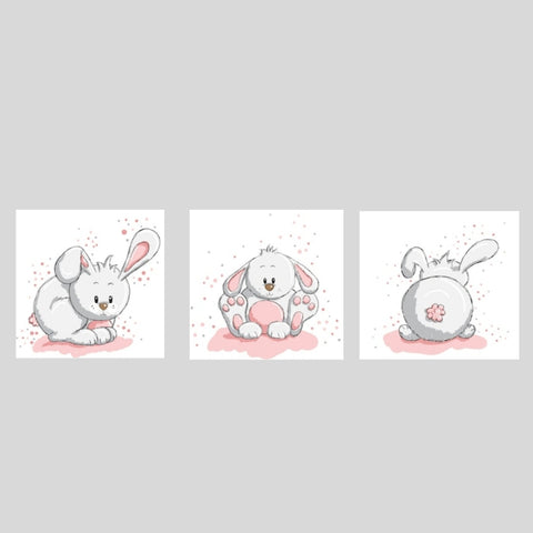 Cute Bunnies Canvas Set