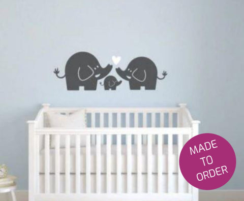 Cute Elephants Wall Sticker