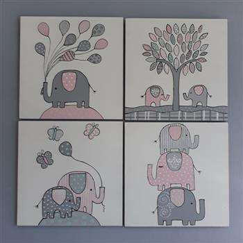 Cute Ellies Canvas Set