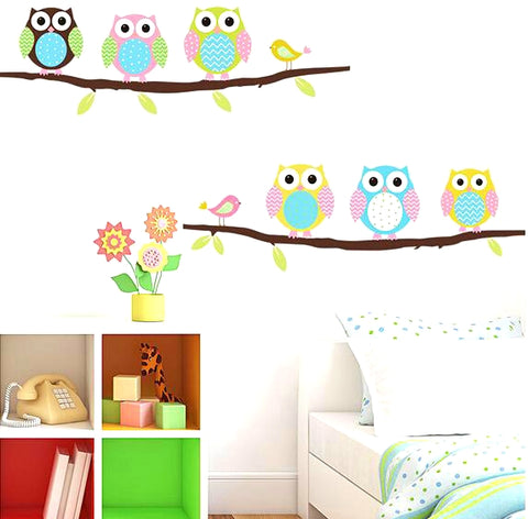 Double Owls On Branch