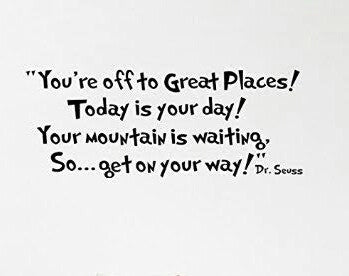 Dr Seuss Great Places Wall Sticker