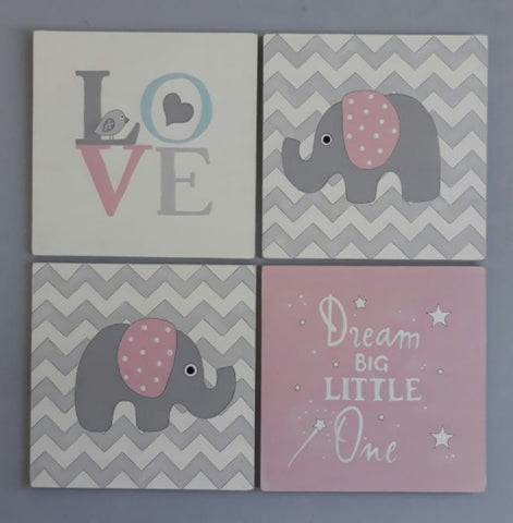 Dream Big Pink Canvas Set