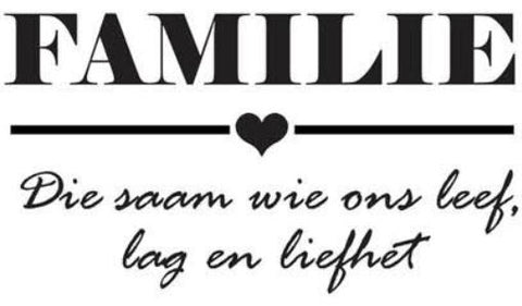 Familie Small Wall Sticker
