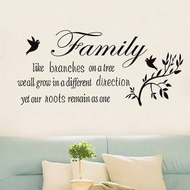 Family Branches with Birds Wall Sticker