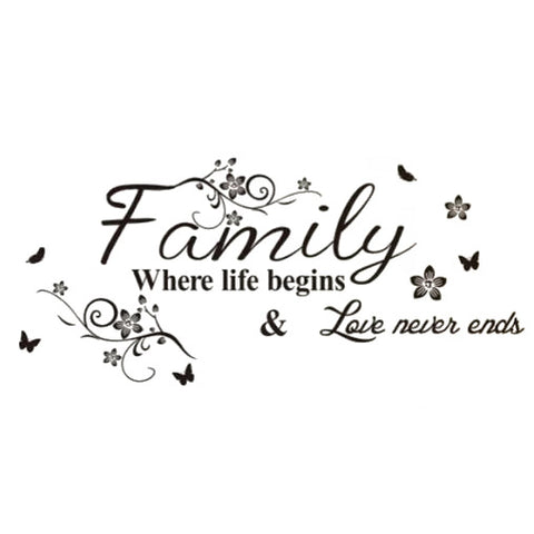 Family Where Life Begins Wall Sticker