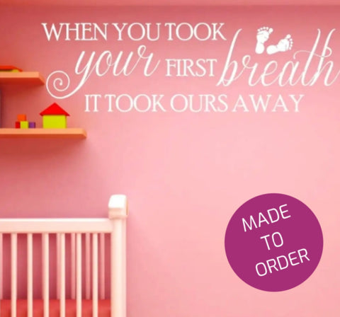 First Breath Wall Sticker