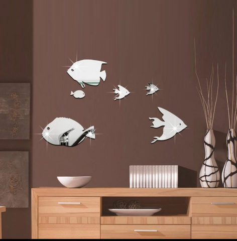 Fish Mirror Walls Sticker