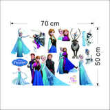 Frozen Wall Sticker Size
