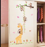 Giraffe and Monkeys Growth Chart Wall Sticker