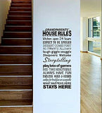 Grandparents House Rules Wall Sticker