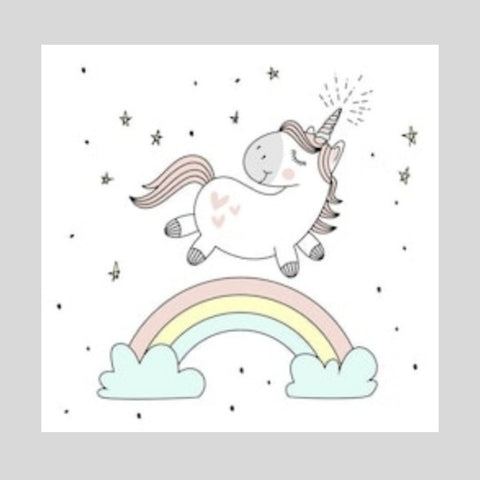 Magical Unicorn Printed Canvas