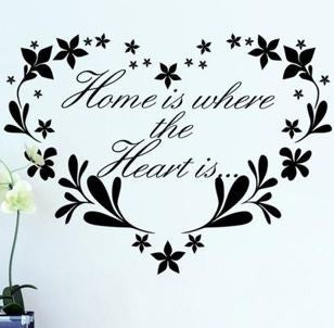 Home is where the hear is wall sticker