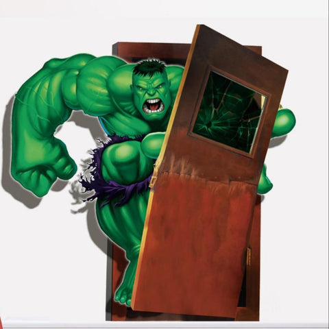 Hulk and Door Wall Sticker