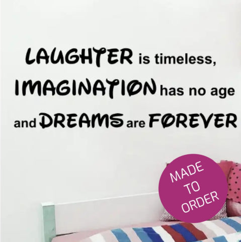 Laughter Is Timeless Wall Sticker