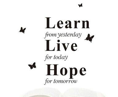 Learn Live Hope Wall Sticker