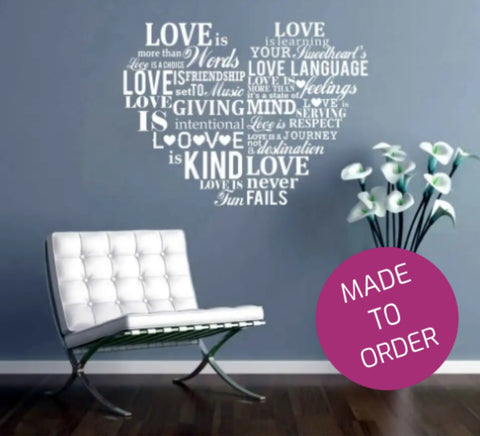 Love Heart Wall Sticker