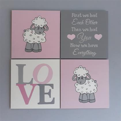 Love Sheep Canvas Set