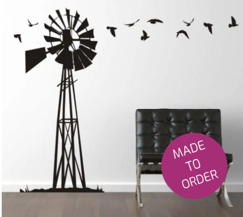 Large Windmill Vinyl Wall Sticker