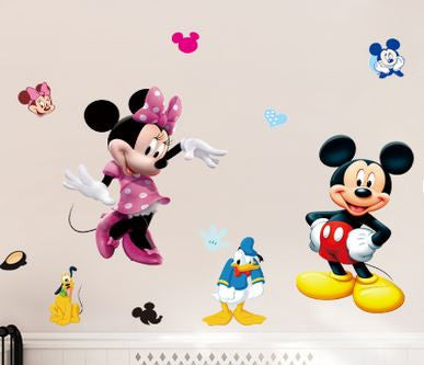 Minnie and Mickey Mouse Wall Sticker