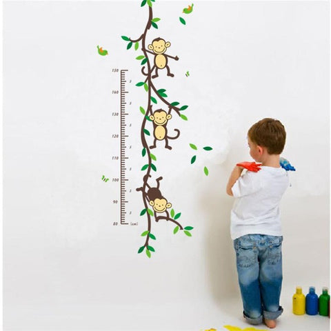 Monkey Growth Chart Wall Sticker