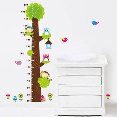 Monkey and Owl Growth Chart