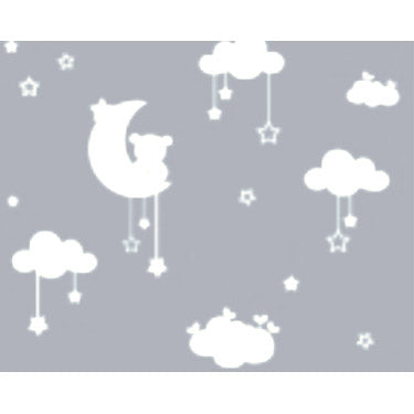 Moon Stars and Clouds Wall Sticker