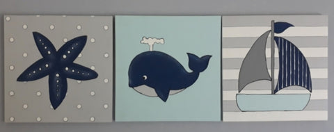 Nautical Canvas Set