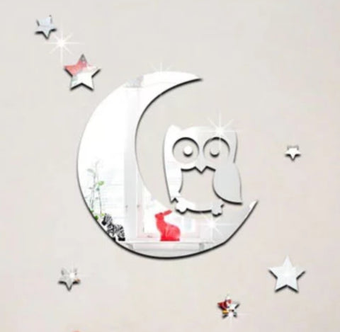 Moon and Owl Mirror