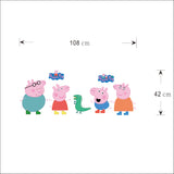 Peppa Pig Wall Sticker Size