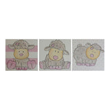 Pink Sheep Trio Canvas Set