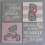 Pink Teddy Canvas Set