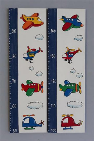 Planes and Helicopters Wooden Growth Chart