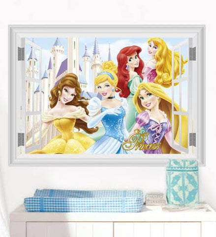 Princesses Window Wall Sticker