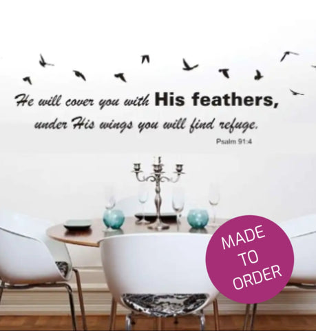 Psalm 91:4 Wall Sticker