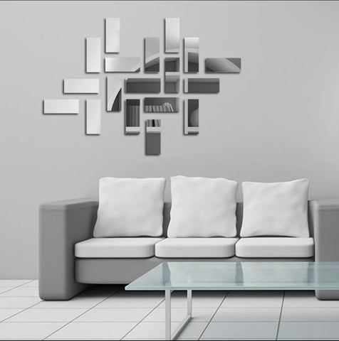 Rectangles Mirror Wall sticker