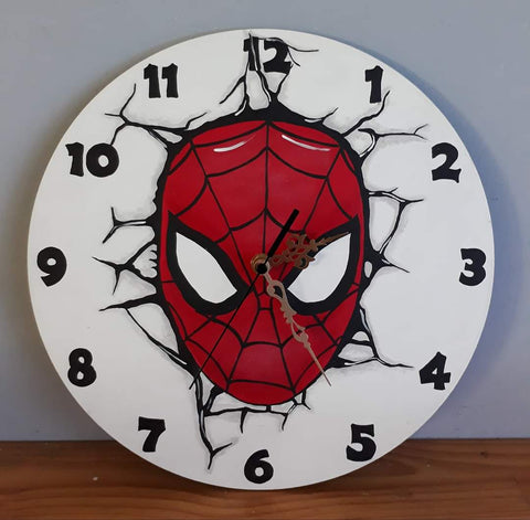 Spiderman Wooden Clock
