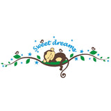 Sweet Dream Monkey Wall Sticker