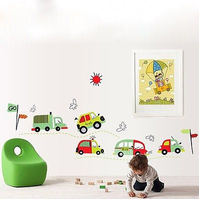 Cars Trucks and Buses Wall Sticker