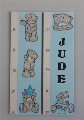 Teddys and Name Wooden Growth Chart