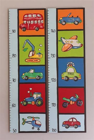 Transport Wooden Growth Chart