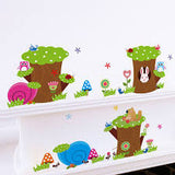 Tree Trunks and Animals Wall Sticker 2