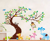 Tree and Animal Fun Wall Sticker